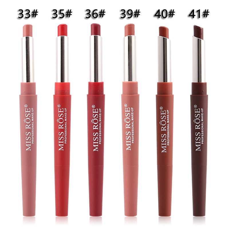 Brand New, High Quality Portable 20 Color Lip Makeup Liner Waterproof Long-lasting Red Lip Pencil Lipstick