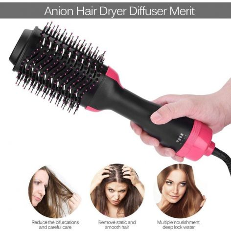 Upthrush One Step Hair Dryer And Volumizer Blower Professional 3-in-1 Hair Dryer Hot Brush Blow Drier Hairbrush Styler