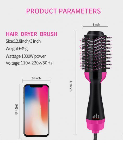UPTHRUSH™ One Step Hair Dryer And Volumizer Blower Professional 3-in-1 Hair Dryer Hot Brush Blow Drier Hairbrush Styler