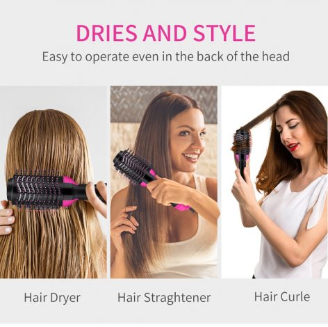 UPTHRUSH™ One Step Hair Dryer And Volumizer Blower Professional 3-in-1 Hair Dryer Hot Brush Blow Drier Hairbrush Styler