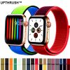 UPTHRUSH™ Apple Watch iWatch Sport Bands Nylon Strap Loop 64 Colors Colorful Apple Watch Series 1 To Series 5 Bands