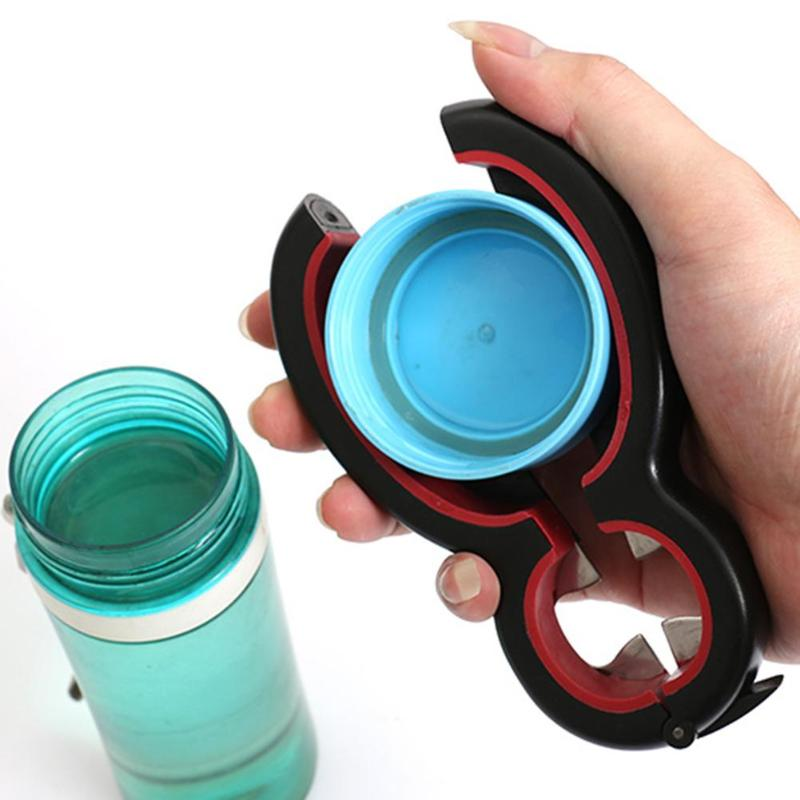 UPTHRUSH™ 6 in 1 Twist Bottle Opener Multi Function All in One Jar Gripper Can Wine Beer Lid Twist Off Jar Opener Claw