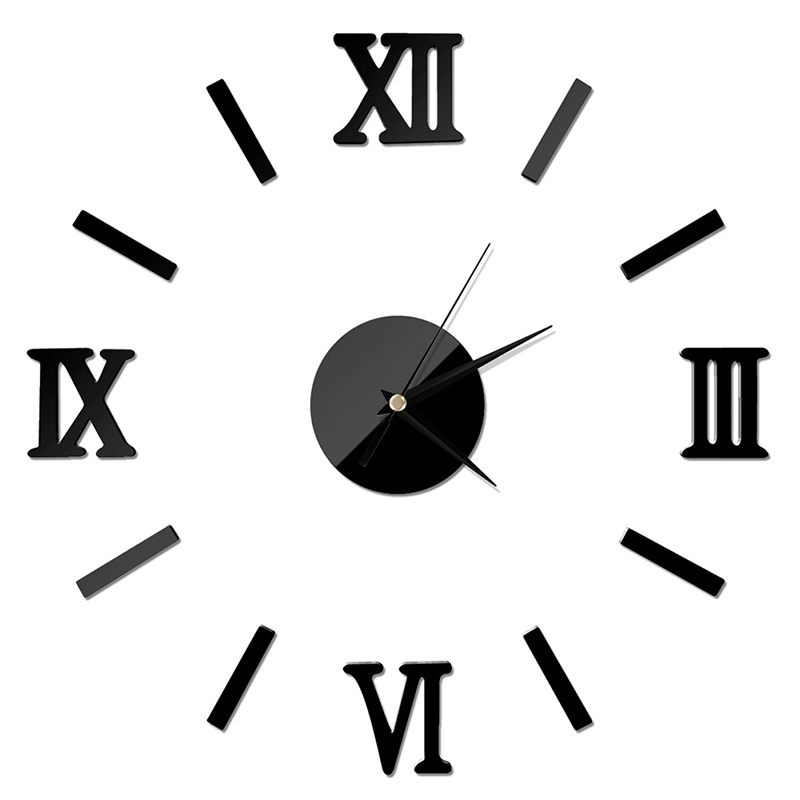 UPTHRUSH™ 3D DIY Luxury Large Wall Clock Home Decoration Living Room Mirror Art Design Fashion Wall Posters Decor Crafts Wall Clock Decals