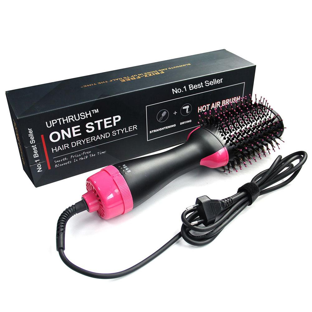 UPTHRUSH™ One Step Blow Dryer Brush Hair Dryer Brush Glow Styler Hot Air Brush And Volumizer Professional 3-in-1 Hair Dryer Blow Drier Hairbrush Glow Styler