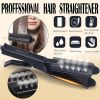 UPTHRUSH™ Hair Straightener Flat Iron Hair Curler Four-gear Temperature Adjustment Ceramic Tourmaline Flat Iron Women Hair Straightener Widen Panel Hair Curler