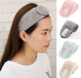 UPTHRUSH™ Women SPA Makeup Headband Wash Face Shower Hairband Adjustable Yoga Head Bands for Girls Soft Headwear Hair Styling Accessories