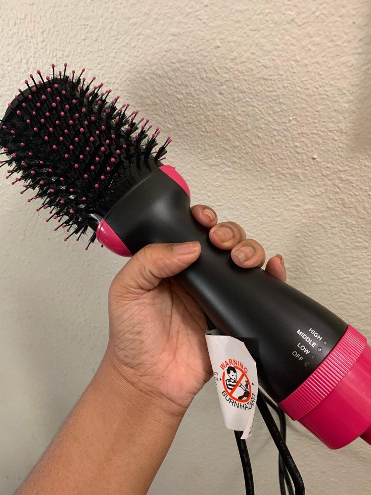 UPTHRUSH One Step Blow Dryer Brush Hair Dryer Brush Glow Styler Hot Air Brush And Volumizer Professional 3-in-1 Hair Dryer Blow Drier Hairbrush Glow Styler